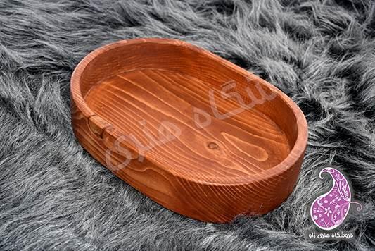 ظرف بیضی چوبی دستساز