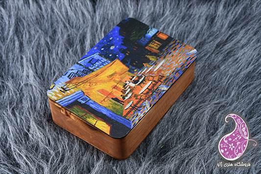 جعبه مربعی چوبی