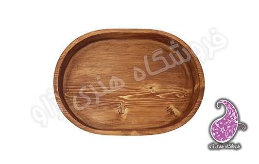 ظرف چوبی بیضی
