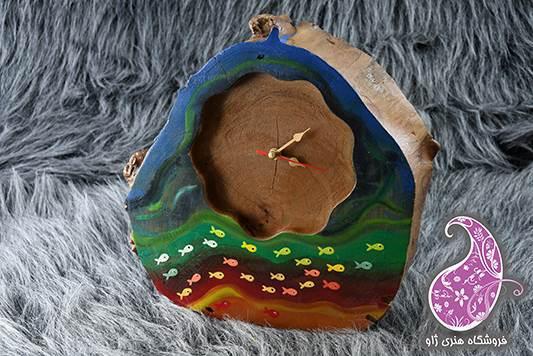 ساعت چوبی دیواری